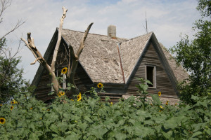 Days gone by, abandoned homestead, Nebraska