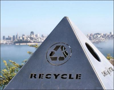 Recycle bin, San Francisco by the Golden Gate Bridge