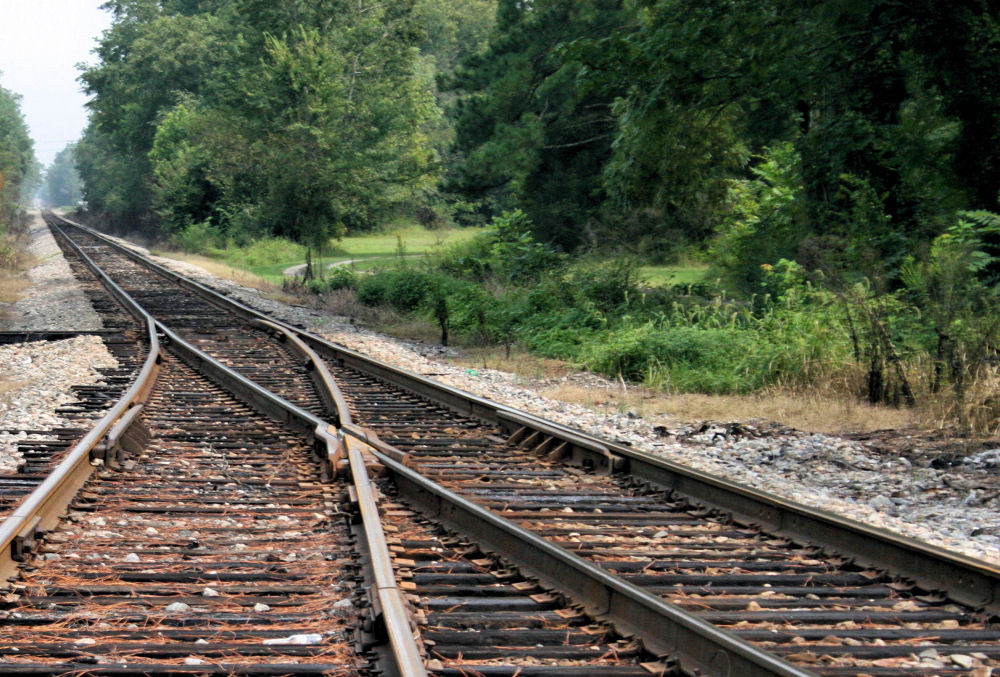 Wood used in railway ties and rail is a source for transportation of wood, Courtland, Tennessee