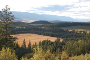 Landscape, northern Idaho near Bonners Ferry
