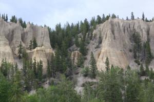 Dutch Creek Hoodoos, Kootenay Natl Park, BC, Hwy 93