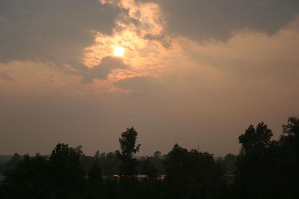 Little Rock, Arkansas sun setting