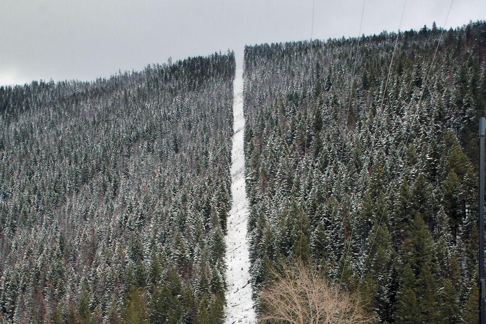 Hwy 93, BC-Alberta border in February