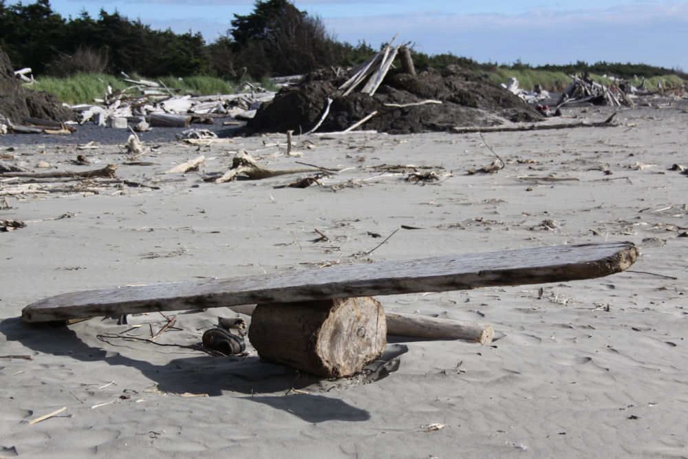 Creative see-saw, Cape Disappointment, Washington