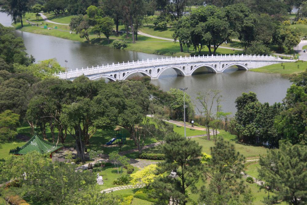 View of Japanese Gardens bridge