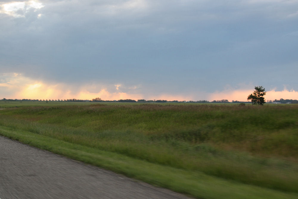 Chestermere, Alberta sunset