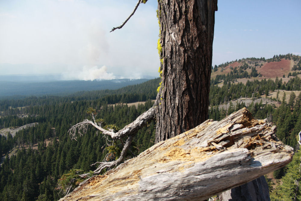 Crater Lake, Oregon - Sept. 10th, 2011 forest fire