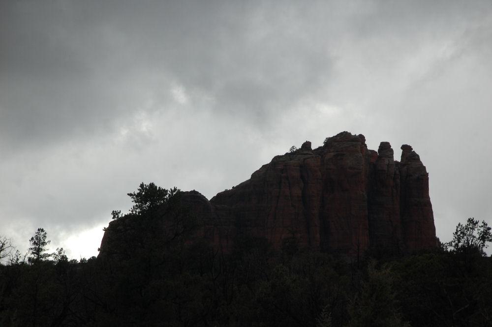 Afternoon rain storm, Sedona, Arizona