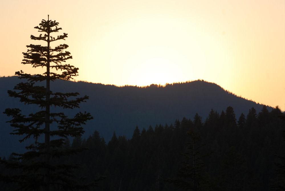 Diamond Lake sunset, Oregon