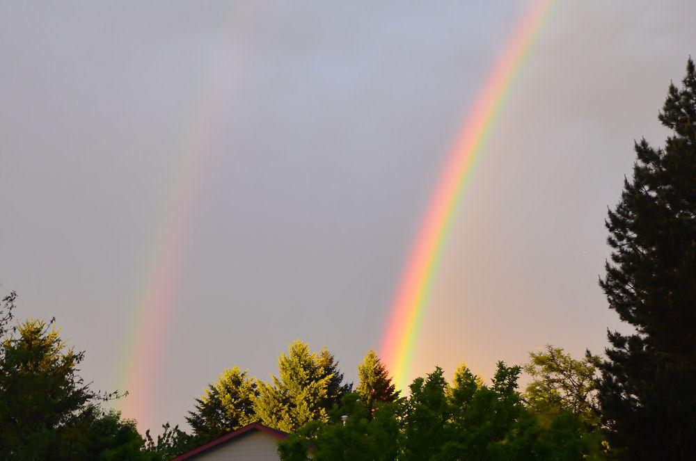 Double rainbow, Hillsboro, Oregon