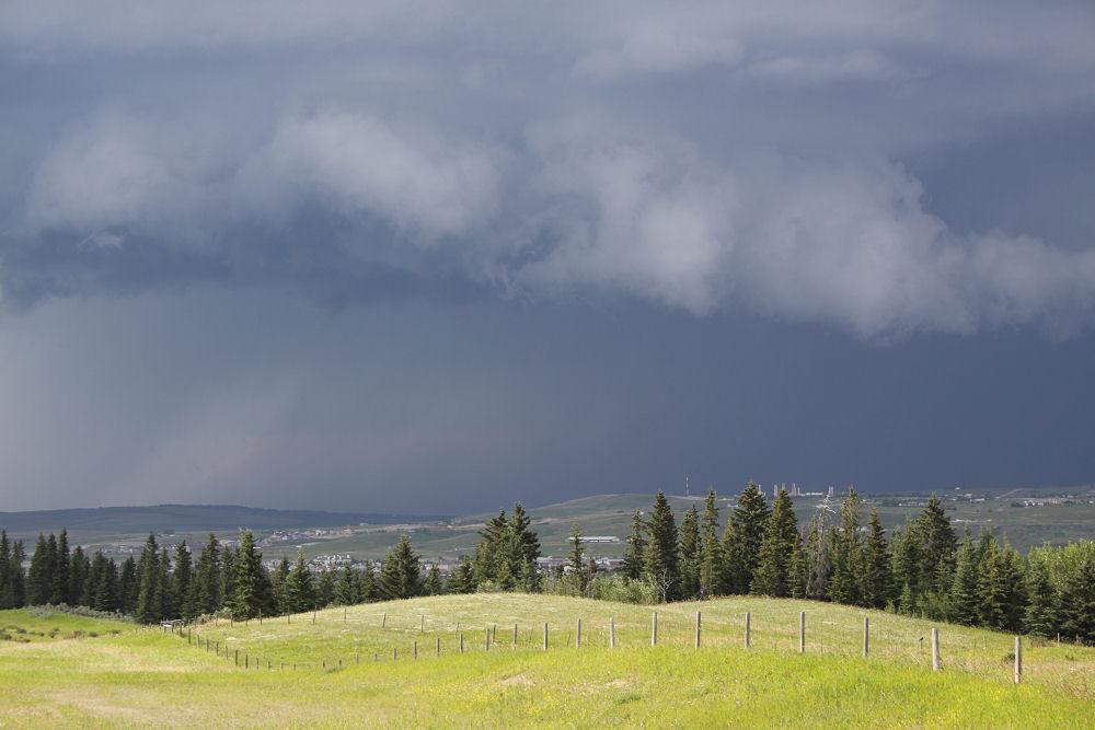 Cochrane, Alberta summer storm July 30, 2010