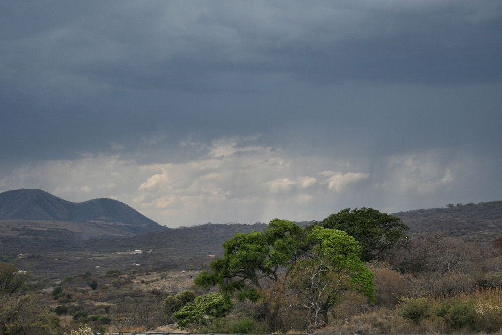 Mexico landscape, storm near Chapala