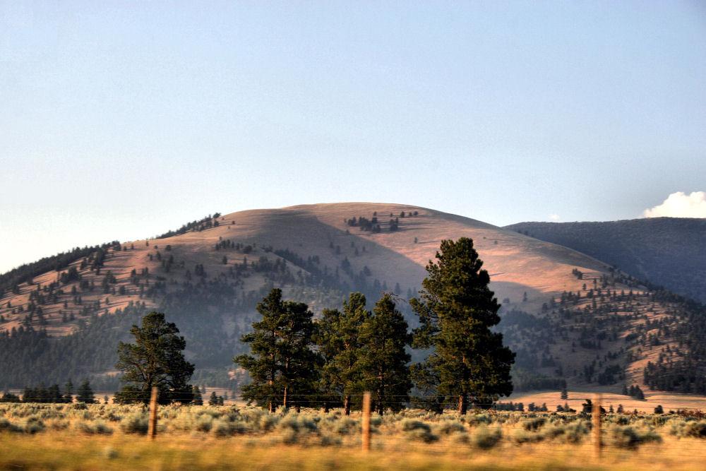Montana landscape, foothills at sunset