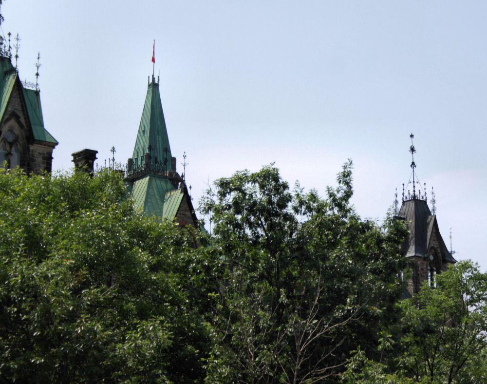 Canadian Parliament buildings roof profile, Ottawa, Ontario