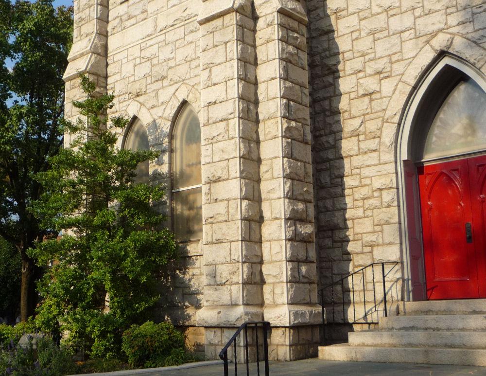 Roanoke, Virginia Methodist Church cedars