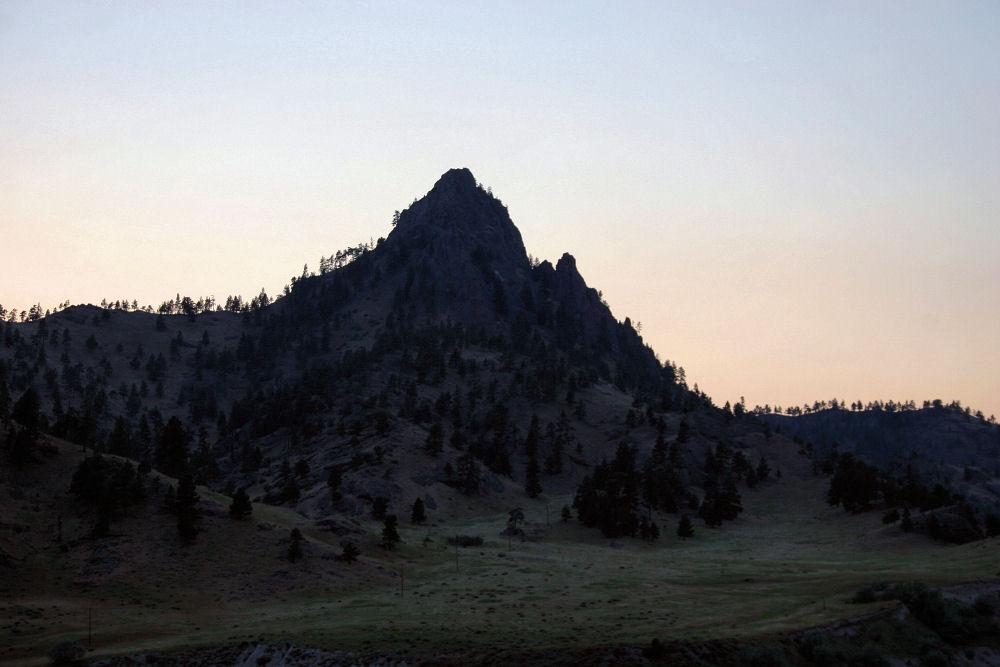 Wyoming mountain silhouette
