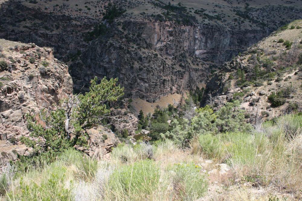 Mountain gorge near Gillette, Wyoming