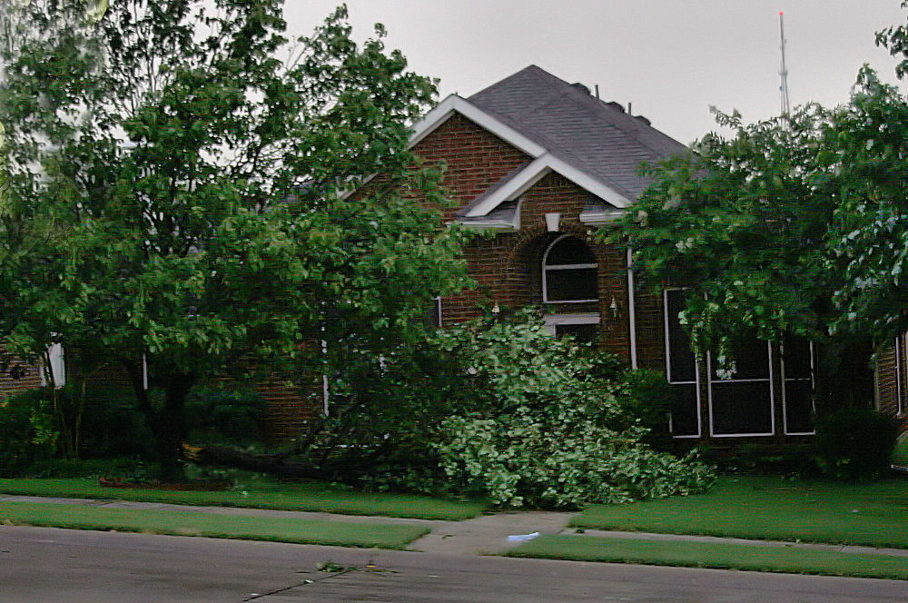 Storm damage, Lewisville Texas, June 11th, 2009